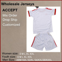 Wholesale Cheap Hot selling Season soccer jerseys White Color Mexico AWAY kids soccer jerseys mix order