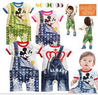 Boy Spring / Autumn Short 30%off!2013 summer style! Boys short sleeve styling Denim fake strap Kazakhstan. Cartoon kids clothes..baby market.baby wear.3sets WH
