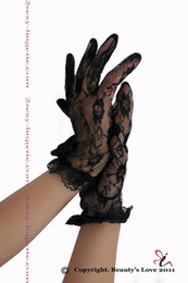 Wholesale Sexy floral lace wrist length gloves sexy gloves factory supplier cheap good gloves one size