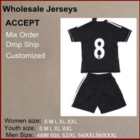 Wholesale Brand new Top Quality Season soccer jerseys LAMPARO Black Color Chelsea Away kids soccer jersey mix order