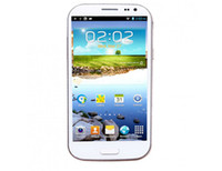 Android <128M Single Core Feiteng H9500 S4 Smart Phone Android 4.2 MTK6589 Quad Core 5.0 Inch HD IPS Screen 5.0MP Front Camera- White