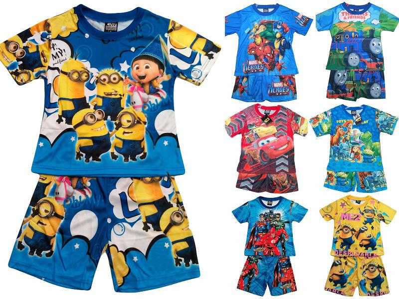 2015 Hot Selling Children's Clothes Set Cartoon Boys Pajamas New ...
