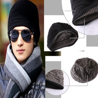 Wholesale Newest Mens Hip Hop Hat Knitted Thickening Pocket Turban Winter Elastic Fashion Cap