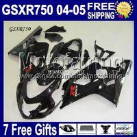 Wholesale 7gifts Cowl Fits K4 SUZUKI GSX R750 Glossy black GSXR750 Free Custom MF106J47 GSXR GSXR ALL Black Body Fairings