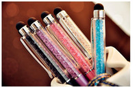 Wholesale Swarovski Crystal General Capacitive Stylus Ballpoint Pen Touch Pen for iPhone s iPad Samsung HTC