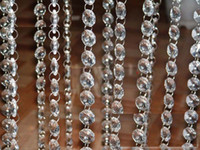 acrylic chandelier crystals - MM clear acrylic octagonal crystal beaded garland strands chains for wedding chandelier