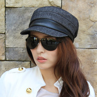 Wholesale Hat male cap female autumn and winter the trend vintage military hat cadet cap