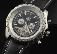 Wholesale Automatic Luxury Swiss Men Mechanical Watch tourbillon black dial leather Stainless watches dive Sport Mens antique Wristwatch