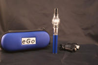 Single Stainess Steel Metal Glass atomizer wax dry herb atomizer vaporizer pen ego case electronic cigarette case Glass Globe atomizer glass tank ego t battery kits