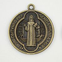 big medals - of Catholic religious gifts Evil Exorcism Protection St Benedict holy medals big antique bronze plated medal