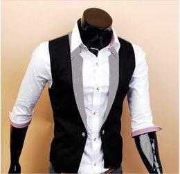 Wholesale new arrive men s Outwear fack Men s Vests wth sleeve