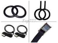 Wholesale 1Pairs High Quality ABS Plastic Gymnastic Rings and strap with