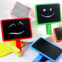 Wholesale Clip style wooden mini Memo BLACKBOARD Cute novel creative office Mini Blackboards Fashion hot popular funny blackboards Charm stationery