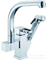 Wholesale Copper pull type basin faucet hot and cold vegetables basin sink spray gun belt supercharged shower