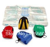 Wholesale CPR MASK CPR FACE SHIELD BARRIER KEY CHAIN KIT GLOVES