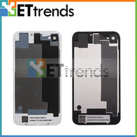 Wholesale Black White Back Glass Shell Battery Housing Door Cover Replacement Part for iPhone CDMA S AA0007