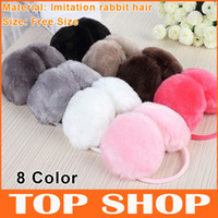 Wholesale Ear Muffs Winter Plush Earmuffs Christmas Women Backphones Warm Plush Earmuffs Cute Ear Covers Color