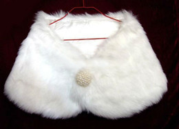 Wholesale New Ivory Faux Fur Wrap Shrug Bolero Coat Bridal Shawl Wedding Dresses Bridal Gowns
