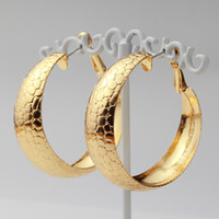 basketball wives earrings for sale - Hot Sale Snake Hoop Earrings K Real Gold Plated Earrings Basketball Wives Fashion Jewelry Gift For Women YE627