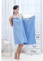 Wholesale x86cm color Microfiber fabric bath towel rectangle could wear novelty hotel beach hotel home towel