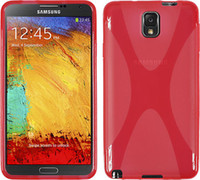 Plastic For Samsung For Christmas For Samsung Galaxy Note 3 N9000 X Line Tpu Back Cover Brilliant Plastic Good Quality Case Cover Folie 10Pcs