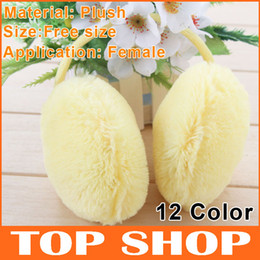 Wholesale Ear Muffs Plush Earmuffs Winter Free Size Warm Women Earmuff Ear Cover Ear Cap Color SS2012