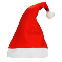 Wholesale High Quality Santa Claus Cap Soft Red Christmas Hat Christmas Christmas Gifts Christmas stocking Christmas ornaments