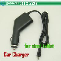 Wholesale Car charger for ainol novo7 aurora II Elf II Tornados Mars tablet pc freeshipping dropshipping