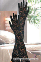 Wholesale Sexy floral lace elbow length gloves red white and black one size good quality cheap price fashion lace gloves