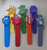 slap - New Arrival Hot Models Ocean Animal Series Slap Watch Cute Animal Cartoon Slap Snap Watch Silicone Wrist Watch for Children Gift