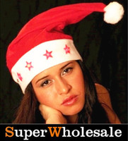 Wholesale LED light christmas hat flashing hat santa cap christmas decoration Type