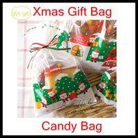Christmas Gift Box santa ornament - New Santa Design Christmas Gift Bag DIY Gift Candy Bag Wedding Xmas New Year Red Wine Bags Chirstmas Decorations Ornaments new