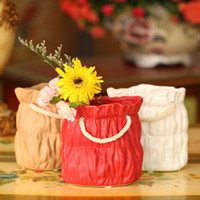 Wholesale Zakka paper bag ceramic vase pen bag bag creative super sized keys fm081