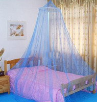 Wholesale Insect Bed Canopy Netting Curtain Mosquito NetBedroom Single Compact CampCover White PinkBlue Princess Bed Nets Outdoor Sleeping