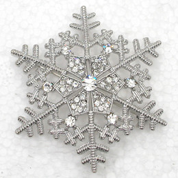 Wholesale C927 CLEAR CRYSTAL RHINESTONE SNOWFLAKE FLOWER PIN BROOCH WEDDING PARTY JEWELRY GIFT & PENDANT MULTICOLOR