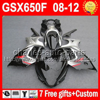 7gifts For SUZUKI all black GSX650F GSX 650F 08- 12 Q3291 GSX...