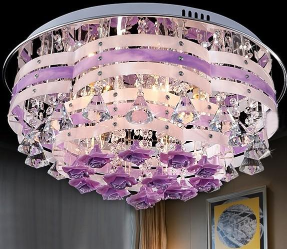 K9 Crystal Pink Purple Ceiling Light Modern Fashion Romantic – Purple Chandelier Lighting