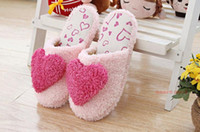 Wholesale The new winter cotton mop cartoon lovely home floor slippers coral fleece cotton slippers big love fm087
