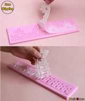 FDA cake decorating tools - New Silicone set Cake Decorating Fondant Lace Mold Tools Size M S