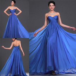 Graceful Custom Made Royal Blue Sweetheart Ruched Empire Evening Dress Formal Dresses Party Dresses Maternity Dress