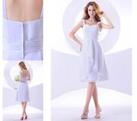 Wholesale Sweetheart Straps Tea Length Chiffon Short Cheap Bridesmaid Dresses Wedding Party Guest Gown AQ2097