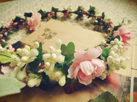 Wholesale Original Bridal Mori European retro female flower garland bracelet berries simulation hair jewelry wedding photo packages