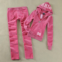 Women Long Sleeve Regular Spring Autumn Girls Velour Tracksuits Sportswear Set With Long Sleeve Blue Grey Black Pink 8 Colors Women Sweat Suits 2014 Free Shipping