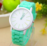 Fashion Unisex Not Specified Hot sales Fashion Men's & Women's Watches Silicone Jelly Watch Trends in Geneva Students Candy Watch 11 color mint come in
