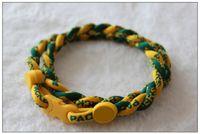 Wholesale 2013 Fashion Packers Necklace cm Hand Braided American Football Necklace Twist Titanium Necklace New Arrival Fans Souvenirs HOT SALE