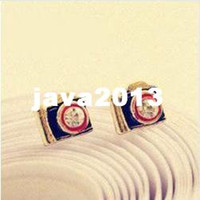 Wholesale Min order is Fashion retro antique Cute camera earring cRYSTAL sHOP