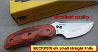 Wholesale Hunting knife Full tang BUCK Knife Rocky Mountain Elk Foundation Hunting Knife Survival Outdoor Tools