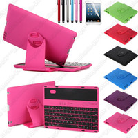 Wholesale 360 Degree Rotating Swivel Rotary Case Cover With Wireless Bluetooth Keyboard For iPad
