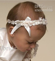 0-3M best hair bands - 2014 Latest Lovely Ivory Baby s Hair Band With Lace Best Matching to Christening Gowns