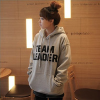 Wholesale New coming TEAM LEADER printed women hooded fleece Hoodies sportswear red gray t5720